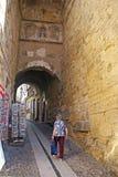 Narrow Street, Coimbra, Portugal Stock Photos