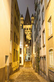 Narrow street in Cologne Germany Royalty Free Stock Image