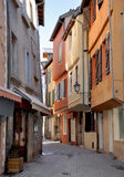 Narrow street with colorful facades Royalty Free Stock Photo