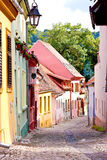 Narrow street with colorful houses Royalty Free Stock Photo