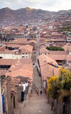 Narrow street of Cuzco Stock Photo