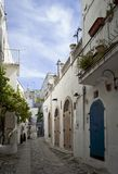 Narrow street detail Royalty Free Stock Images