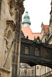 Narrow street in Dresden Stock Photo
