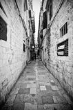 Narrow street in Dubrovnik Royalty Free Stock Image
