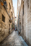 Narrow street in Dubrovnik. Royalty Free Stock Photo