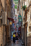 Narrow street in Dubrovnik, Croatia Stock Photo