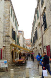 Narrow street in Dubrovnik Royalty Free Stock Images