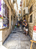 Narrow street in Dubrovnik Stock Photography