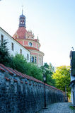 Narrow street in the early autumn sun Royalty Free Stock Photography