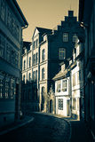 Narrow street in Erfurt. Germany royalty free stock image