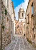The narrow street of Erice, Sicily, Italy Royalty Free Stock Photo