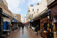 Narrow street in Essaouria, Morocco Royalty Free Stock Photos