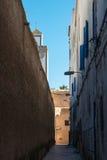 Narrow street in Essouira, Morocco Stock Photography