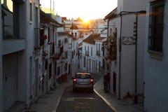 Narrow street in Estepona, Spain Royalty Free Stock Photography