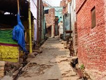 Narrow street in Fatehpur Sikri, Uttar Pradesh, India. Stock Photo