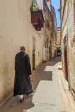 Narrow Street in Fez Medina in Morocco Stock Photography