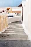 Narrow street in Fira Santorini Greece Royalty Free Stock Photo