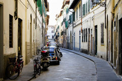 Narrow Street - Florence - Italy Stock Images