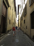 Narrow street in Florence Stock Photography