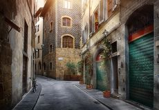 Narrow street of Florence Royalty Free Stock Image