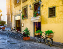 Narrow street in Florence, Tuscany Royalty Free Stock Photo