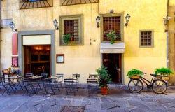 Narrow street in Florence, Tuscany stock photos