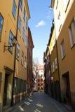 Narrow street in Gamla Stan in Stockholm Stock Image