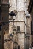 Narrow street in gothic quarter of Barcelona Stock Photo