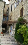 Narrow street of gourdon Royalty Free Stock Photo