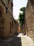 Narrow street in Greece Stock Photography