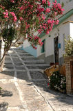 Narrow street Greek Stock Photo