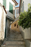 Narrow street Greek Royalty Free Stock Photo