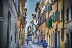 Narrow street in hdr in Florence Royalty Free Stock Photos