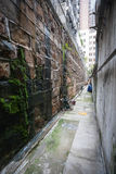 Narrow street in Hong Kong Stock Photo