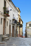 The narrow street between the houses, Italy Royalty Free Stock Photo