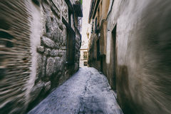 The narrow street between the houses Royalty Free Stock Images