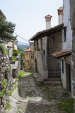 Narrow street in Hum Stock Photo