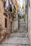 Narrow Street In Dubrovnik Old Town Royalty Free Stock Image