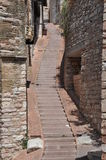 Narrow street in italian medieval town Stock Image