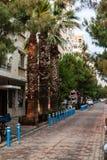 A street view from narrow street at izmir/turkey royalty free stock image