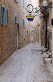Narrow Street in Jaffa Stock Images