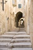 Narrow street in Jewish Quarter, Jerusalem Royalty Free Stock Image