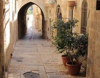 Narrow street in Jewish Quarter Jerusalem Stock Photography