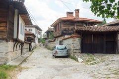 Narrow street Koprivshtitsa in Bulgaria Stock Photos