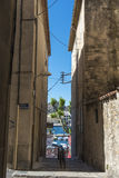 Narrow street La Ciotat royalty free stock photo