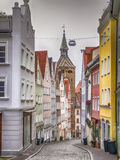 Narrow street Landsberg Royalty Free Stock Photos