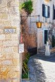 Narrow street with lantern in Mdina. Malta Royalty Free Stock Image