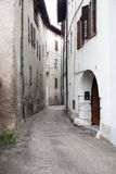 Narrow street in Limone Stock Photography