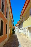 A narrow street in Lisbon Royalty Free Stock Image