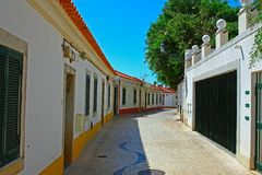 A narrow street in Lisbon Royalty Free Stock Photography